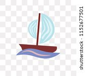 sailboat vector icon isolated... | Shutterstock .eps vector #1152677501