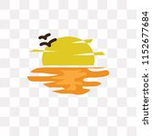 sunset vector icon isolated on...   Shutterstock .eps vector #1152677684