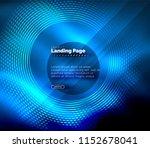 neon glowing techno lines  hi... | Shutterstock .eps vector #1152678041