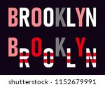brooklyn slogan vector | Shutterstock .eps vector #1152679991