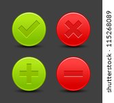 check mark  delete  plus and... | Shutterstock .eps vector #115268089