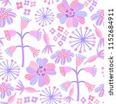 pink floral pastel seamless... | Shutterstock .eps vector #1152684911
