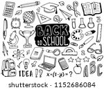 back to school doodle elements. ... | Shutterstock .eps vector #1152686084