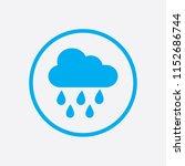 rain icon in trendy flat style...
