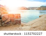 beautiful seashore vacation on... | Shutterstock . vector #1152702227