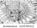 business dollar money in metal... | Shutterstock . vector #1152704111