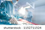close up shot in operating room ... | Shutterstock . vector #1152711524