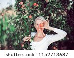 beautiful mid age woman... | Shutterstock . vector #1152713687