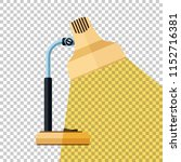 table lamp icon with beam of... | Shutterstock .eps vector #1152716381