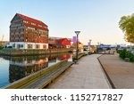 embankment in klaipeda of... | Shutterstock . vector #1152717827