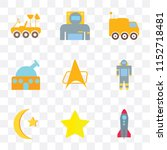 set of 9 simple transparency... | Shutterstock .eps vector #1152718481