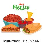 delicious mexican food icons | Shutterstock .eps vector #1152726137