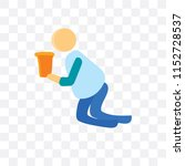 drunk vector icon isolated on... | Shutterstock .eps vector #1152728537