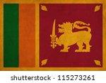 sri lanka flag drawing  grunge... | Shutterstock . vector #115273261