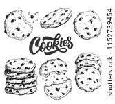 sketch ink graphic cookies set... | Shutterstock .eps vector #1152739454