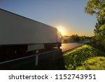 truck transportation on the...   Shutterstock . vector #1152743951