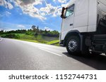 a fast truck running on the...   Shutterstock . vector #1152744731