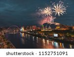 fireworks in newcastle upon...   Shutterstock . vector #1152751091