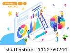 isometric concept of data... | Shutterstock .eps vector #1152760244