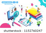 isometric concept of viewing a... | Shutterstock .eps vector #1152760247