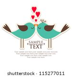 invitation card for wedding | Shutterstock .eps vector #115277011