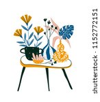 summer floral card or print for ... | Shutterstock .eps vector #1152772151