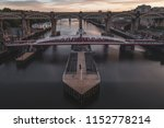 the swing bridge and high level ... | Shutterstock . vector #1152778214