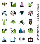 color and black flat icon set   ... | Shutterstock .eps vector #1152779531