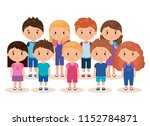 cute and little kids group   Shutterstock .eps vector #1152784871