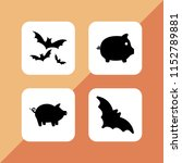 snout icon. 4 snout set with... | Shutterstock .eps vector #1152789881
