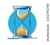desktop hourglass of lines | Shutterstock .eps vector #1152791744