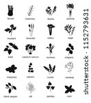 collection of black silhouette... | Shutterstock .eps vector #1152793631