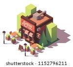 vector isometric pizzeria... | Shutterstock .eps vector #1152796211
