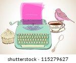 Retro Typewriter  Vintage Hand...