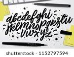 handwritten script font. hand... | Shutterstock .eps vector #1152797594