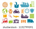 import free shipping set icons | Shutterstock .eps vector #1152799391