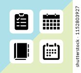 vector set. address book ... | Shutterstock .eps vector #1152803927