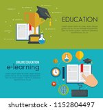 education on line set icons | Shutterstock .eps vector #1152804497