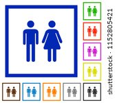 male and female sign flat color ... | Shutterstock .eps vector #1152805421