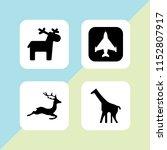wilderness icon. 4 wilderness... | Shutterstock .eps vector #1152807917