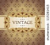 vintage frame | Shutterstock .eps vector #115281415
