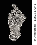 neck embroidery  lace print in... | Shutterstock .eps vector #1152817241