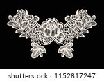 neck embroidery  lace print in... | Shutterstock .eps vector #1152817247