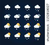 weather icons sun and clouds in ...   Shutterstock .eps vector #1152818027