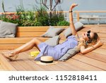 summer lifestyle fashion close... | Shutterstock . vector #1152818411