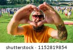 man bearded hipster in front of ... | Shutterstock . vector #1152819854