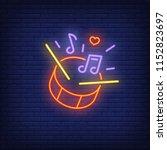 beating drum neon sign. red... | Shutterstock .eps vector #1152823697