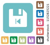 file previous white flat icons... | Shutterstock .eps vector #1152825221