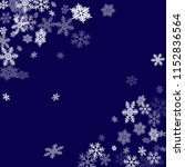 winter snowflakes border trendy ... | Shutterstock .eps vector #1152836564
