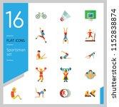 sportsman vector icons set.... | Shutterstock .eps vector #1152838874